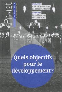 Projet. n° 338, Quels objectifs pour le développement ?