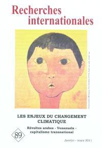 Recherches internationales. n° 89, Les enjeux du changement climatique