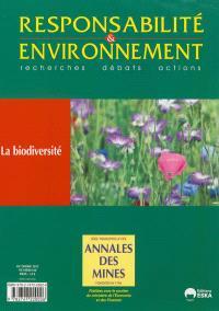 Responsabilité et environnement. n° 68, La biodiversité
