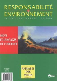 Responsabilité et environnement. n° 37, Mots et langage de l'urgence