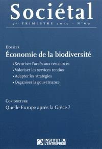 Sociétal. n° 69, Economie de la biodiversité
