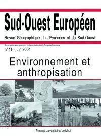 Sud-Ouest européen. n° 11, Environnement et anthropisation