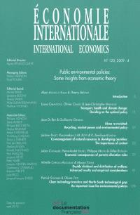Economie internationale. n° 120, Public environmental policies : some insights from economic theory