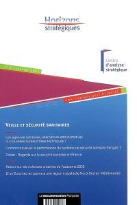 Horizons stratégiques. n° 3, Veille et sécurité sanitaires