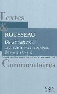Du contrat social ou Essai sur la forme de la République (manuscrit de Genève)