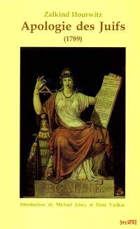 Apologie des juifs (1789) : liberté, égalité, pluralité