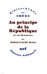 Au principe de la République : le cas Renouvier