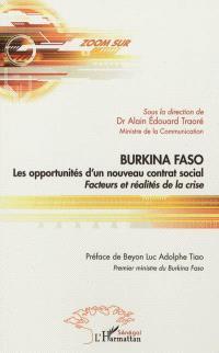 Burkina Faso : les opportunités d'un nouveau contrat social : facteurs et réalités de la crise