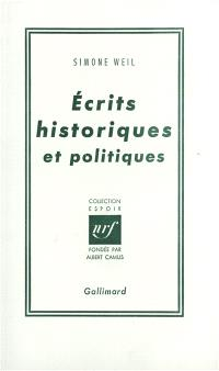 Ecrits historiques et politiques