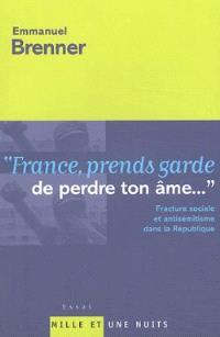 France, prends garde de perdre ton âme... : de la fracture sociale à l'antisémitisme