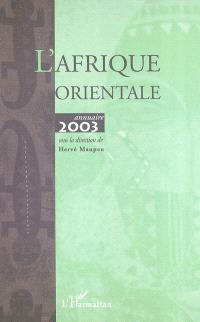 L'Afrique orientale : annuaire 2003