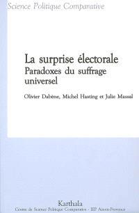 La surprise électorale : paradoxes du suffrage universel : Colombie, Equateur, France, Maroc, Suède, Turquie...