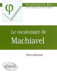 Le vocabulaire de Machiavel