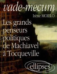 Vade-mecum : les grands penseurs politiques de Machiavel à Tocqueville