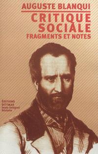 Critique sociale : fragments et notes