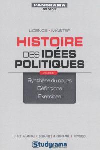 Histoire des idées politiques : de Hérodote à Hannah Arendt : synthèse du cours, définitions, exercices