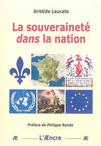 La souveraineté dans la nation