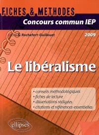 Le libéralisme : concours commun IEP 2009