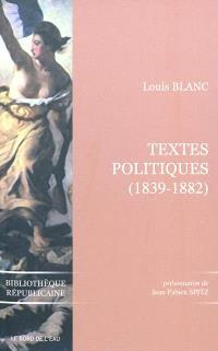 Textes politiques : 1839-1882