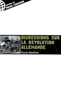 Sur la révolution allemande, 1918-1923