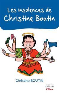 Les insolences de Christine Boutin