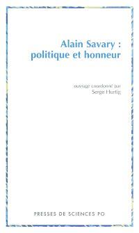 Alain Savary : politique et honneur