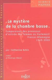 Le mystère de la chambre basse : comparaison des processus d'entrée des femmes au Parlement, France-Allemagne 1945-2000