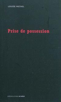Prise de possession