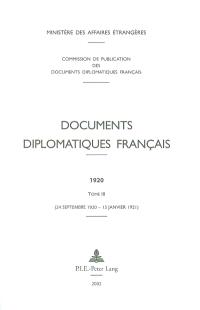 Documents diplomatiques français : 1920. Volume 3, 24 septembre 1920-15 janvier 1921