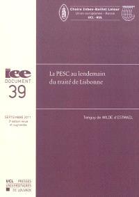 La PESC au lendemain du traité de Lisbonne
