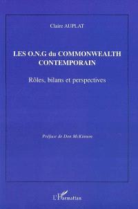 Les ONG du Commonwealth contemporain : rôles, bilans et perspectives