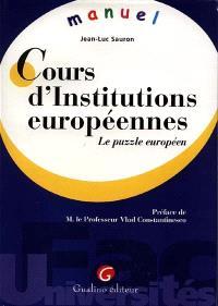 Cours d'Institutions européennes : le puzzle européen