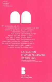 La relation franco-allemande depuis 1945 : clôture de l'année René Girard