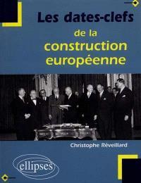 Les dates-clefs de la construction européenne : histoire, institutions, traités, politiques communes, Union économique et monétaire, élargissements, perspectives
