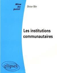 Les institutions communautaires