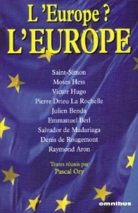 L'Europe ? L'Europe