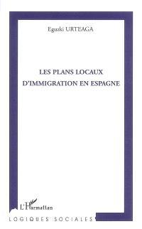 Les plans locaux d'immigration en Espagne
