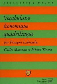 Vocabulaire économique quadrilingue