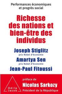 Richesse des nations et bien-être des individus