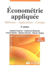 Econométrie appliquée : méthodes, applications, corrigés