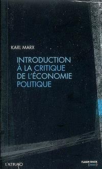 Introduction à la critique de l'économie politique
