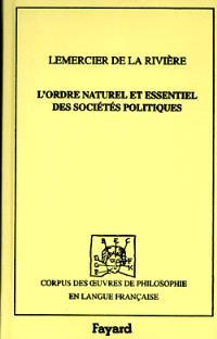 L'ordre naturel et essentiel des sociétés politiques (1767)