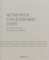 Actes pour une économie juste