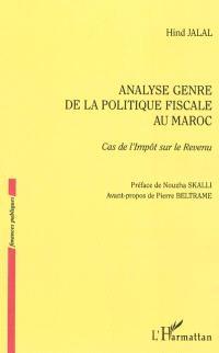 Analyse genre de la politique fiscale au Maroc : cas de l'impôt sur le revenu