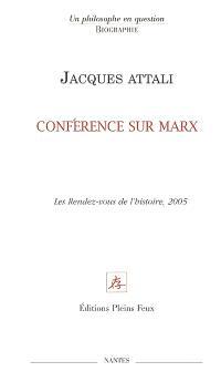 Conférence sur Marx