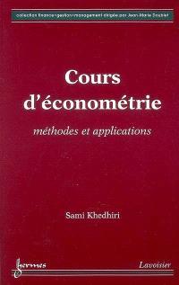 Cours d'économétrie : méthodes et applications