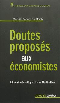 Doutes proposés aux économistes
