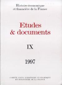 Etudes et documents. Volume 9, 1997