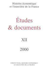 Etudes et documents. Volume 12, 2000