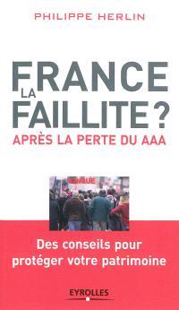 France, la faillite ? : après la perte du AAA